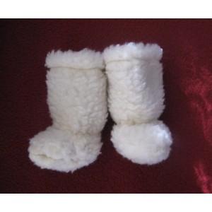 Vlnené capačky Saling biele