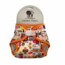 Vrchné nohavičky BambiRoxy PUL XS-S (novorodenecké) cirkus a oranzova