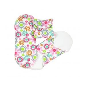 Hygienické látkové prateľné vložky Mini - vzor kvietky - 3 ks