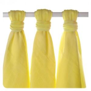 Bambusové štvorcové plienky XKKO 70 x 70 cm Colours Lemon