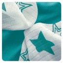 Čistiace obrúsky bambusové 30 x 30 cm XKKO BMB - Turquoise Stars Mix