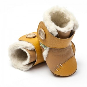Kožené čižmičky Liliputi Arctic Caramel veľ. M