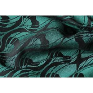 Yaro La Fleur Aqua-Green Black Linen