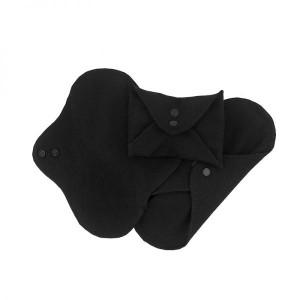Hygienické látkové prateľné vložky Mini - čierne - 3 ks