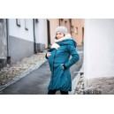 Zimný kabát Angel Wings petrolejovo modrý