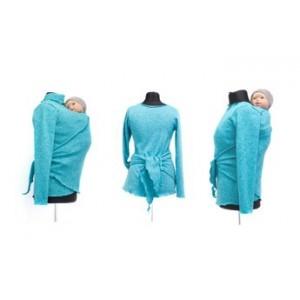 Zavinovací sveter Angel Wings - aqua