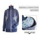 Mikina s nápletom Angel Wings modrá púpavy