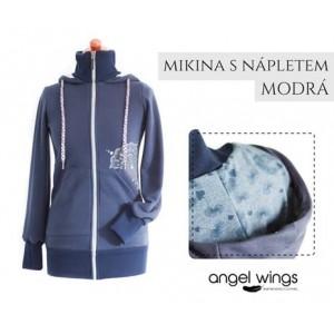 Mikina s nápletom Angel Wings tmavomodrá púpavy