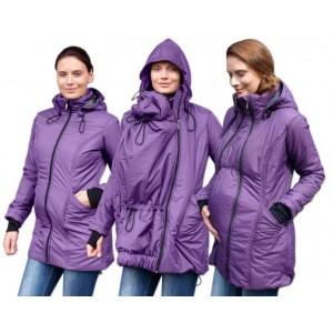Zimná zateplená bunda fialová Jožánek
