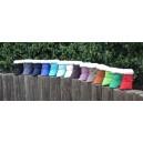 Zľava: čierna,antracit,tmavomodrá,kráľov.modrá,tyrkys,mentol,smotanová,hnedá,staroružová,ťavia,škorica,zelená,tmavozelená,červen