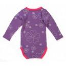 Papfar body vlna/bavlna vzorované fialové
