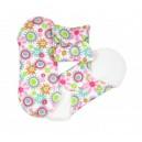 Hygienické látkové prateľné vložky Mini kvietky - 3 ks