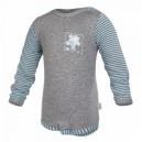 Body smyk Outlast® - dlhý rukáv - sivý melír / pruh mentolový