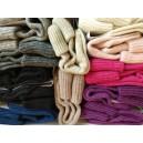 Vlnené ponožky v.7 - zľava zhora: sivá, tm.sivá, čierna2x, tm.modrá, cafe latte, sv.hnedá, krémová, sv.ružová, tm.ružová,fialová