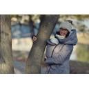 Zimný kabát Angel Wings sivý