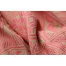 Yaro Geodesic Contra Corail Beige Tencel Tussah Bourette Silk